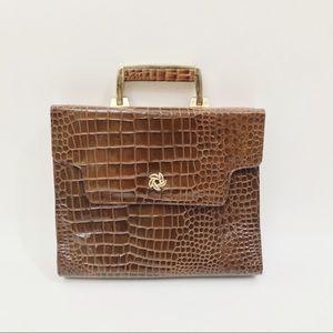 Vintage faux alligator bag